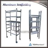 Armatura piegante di alluminio con le rotelle