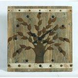 Затрапезно - шик хронометрирует часы стены домашнего декора деревянные с Revit