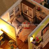 2017 niño grande juguete de madera DIY casa de muñecas en miniatura Inicio