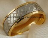 Shineme 보석 형식과 고품질 금에 의하여 도금되는 티타늄 반지 (TR1842)