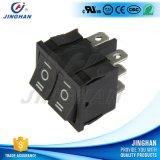 Duración Kcd2-502/D 4 Pin 250V AC Botón Doblar el interruptor basculante