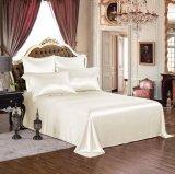Conjunto puro de marfil de lujo verdadero inconsútil de seda estándar de la hoja de la seda de mora de ropa de cama de Oeko-Tex 100 de seda de la serie de la elegancia de la nieve de Taihu 19momme