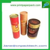 Casella impaccante asciutta di Fruits&Nuts di regalo il contenitore del tè su ordinazione di carta di lusso del profilato tondo per tubi