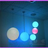 Globe lumineux LED RVB décoratifs pendaison balles en plastique
