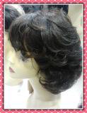 Курчавый парик 8inches шнурка фронта размера краткости человеческих волос
