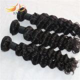 человеческие волосы Remy волны перуанского Weave волос девственницы 7A глубокие