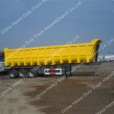 Sinotrukの強い貨物ボックスダンプのトレーラーを半採鉱する60トン