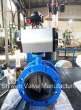 Di/Stainless 압축 공기를 넣은 액추에이터를 가진 강철 디스크 플랜지 나비 벨브