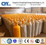 Cilindro de gás de argônio de oxigênio de nitrogênio O2 CO2 de 40L 50L de alta pressão