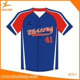 Healong freie Entwurfs-Farben-Sublimation-späteste Art-Mann-Baseball-Jersey-Hemden