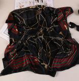 Sciarpa quadrata a buon mercato stampata all'ingrosso del raso degli scialli di seta chiffoni