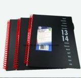 Cuaderno espiral de la impresión de la cubierta de encargo de los PP