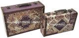 S/2 de Decoratieve Antieke Uitstekende Doos van de Koffer van de Opslag van de Druk Pu Leather/MDF van het Ontwerp van Pisa Houten