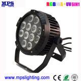 PRO DMX resistente al agua a la par de LED de luz puede 12*18W Rgbwauv Lavado de la iluminación exterior