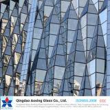 Bronzo/vetro riflettente colore/di verde per la parete/vetro della costruzione