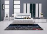 Самомоднейшая деревянная мебель спальни/высоко кровать лоска белая (SZ-BF029)