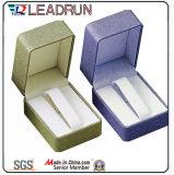 Contenitore di imballaggio di legno della visualizzazione del regalo dell'imballaggio della vigilanza della casella di memoria della vigilanza del documento di cuoio del velluto della confezione della vigilanza (W1)