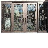 Дешевые цены входные двери из кованого железа стекла