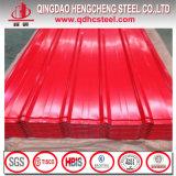 Hoja de acero de acero prepintada azulejo de la azotea de la hoja PPGI del material para techos de T