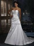Paillettes robe de mariée de taffetas de Mermaid (BOTS0695)
