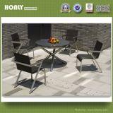 Гранитные круглый стол со стулом Texliene из нержавеющей стали для использования вне помещений в таблице