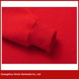 빨간 고품질 스웨터 자수 스웨트 셔츠 Hoody 재킷 제조자 (T175)