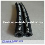 Mangueira de borracha trançada de alta pressão do fio de aço