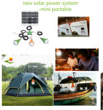 Solar Product 2017 Home 12V Solar Powered LED Lighting Kit Lâmpada de emergência para a África