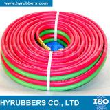 Tubo flessibile di gomma della saldatura, tubo flessibile di gomma dell'ossigeno, tubo flessibile di gomma dell'acetilene