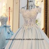 Frauen-Satin-Spitze-Blumen-langes Abend-Partei-Abschlussball Quinceanera Kleid