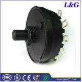 Питание прибора 12A250В переменного тока 6 Установите SP6t поворотный переключатель режимов
