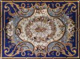 大理石のタイルのモザイク芸術