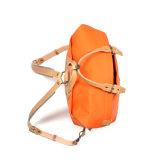 Новая конструкция корейском стиле оранжевого цвета толстые Canvas рюкзак с логотип