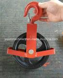 ホックが付いている赤い保護フレームの黒のSheaveの強奪ブロック