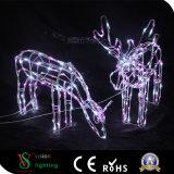Luz decorativa de los ciervos 3D de la Navidad