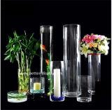Florero de cristal del cilindro alto de acrílico de encargo (BTR-Q8067)