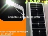 80W todo em uma luz de rua solar