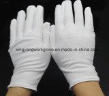 Gants blancs de travail de coton pour l'étiquette
