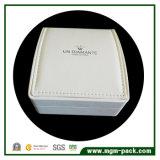 Contenitore di monili di plastica decorativo del cuoio bianco