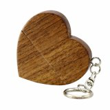 Personalidade de madeira Prenda criativa Customized Wood em forma de coração USB Flash Drive USB2.0 Flash Drive 4G 8GB 16GB 32GB 64GB