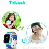 0.96 '' LCD-Bildschirm-Kinder GPS-Uhr mit PAS-Aufruf für Dringlichkeit cal