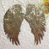 Alas de ángel lentejuelas parches para las prendas de vestir Glitter parche bordado de prendas de vestir prendas de vestir chaqueta Tela de Jeans Badge aplique mosaico Decoración