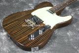 Гитара шеи Zebrawood тела Zebrawood Tele электрическая