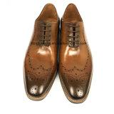 Vestido de cuero estilo Hand-Painted italiano Mens zapatos formales