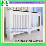 Housse de radiateur en MDF à fond réglable blanc