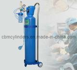 Trousse médicale de l'oxygène (cylindre d'oxygène 2L en acier réglé)