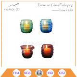 小グラスの蝋燭ホールダー、ガラス卓上スタンド