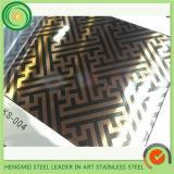 Una buena calidad 304 Hoja de acero inoxidable decorativos con bajo precio