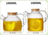 1L Europa Popular Glass Tea Pot Frio Drinking Pot Chaleira De Vidro Flower Tea Pot Watering Can