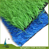 Le football artificiel d'or d'herbe, herbe bleue fausse